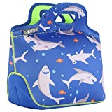 GOPRENE Lunch Bag For Boys [Fits A Kids Lunch Box] | Neoprene Bag | Blue Shark | Bento & Thermos Fit...