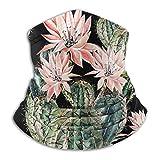 Linger In Elegante Cactus Acuarela Flores Rosadas Cuello Calentador Sombreros Cara Bufanda Unisex
