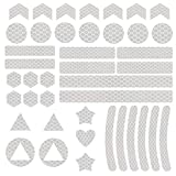 Adhesivo reflectante Vegena para mochila, 41 unidades, impermeable, altamente reflectante, para cochecitos, bicicletas, cascos, mochilas, marcadores de seguridad