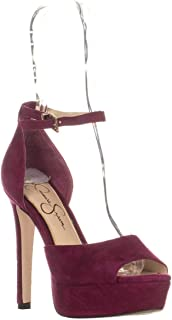 Jessica Simpson Beeya Ankle Strap Platform Sandals, Sangria