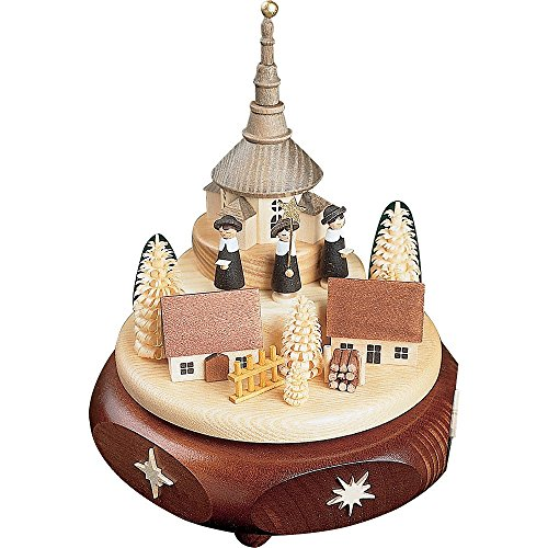 Richard Glässer Kikkerland - Caja de música, diseño de Pueblo de Kirchdorf con Cazador de Curvas
