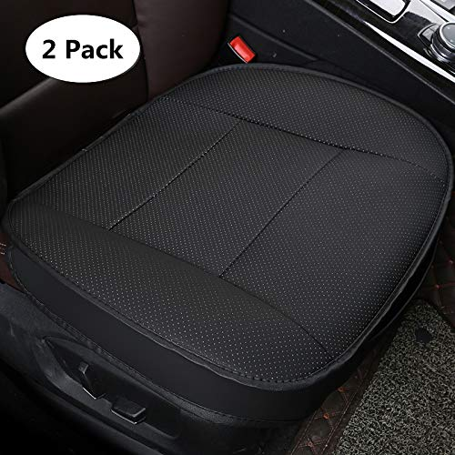 HONCENMAX Weich Autositzüberzug Kissen Pad Matte Schutz für Autozubehör für Limousine Fließheck SUV 3D Kantenverpackung Schutzhülle [Ohne Rückenlehne] - 2PCS