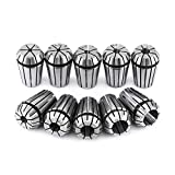 10pcs/set ER20 Spring Steel Collet Set for CNC Workholding Engraving Milling Lathe Tool 3m...