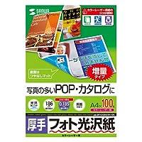 (11個まとめ売り) サンワサプライ カラーレーザー用フォト光沢紙・厚手 LBP-KAGNA4N-100
