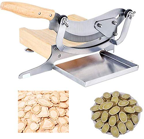 CGOLDENWALL Manual Chinese Medicine Slicer Stainless Steel Herb Cutter Slicing Machine for Chinese Herbal Beef Jerky Dried vegetable Nougat Household Commercial Cutting Machine
