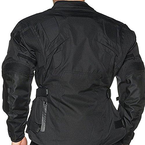 Die Infinity schwarz wasserdicht belüftet Thermo Armour Motorrad Motorrad Jacke Gr. XX-Large, Schwarz – Schwarz - 2