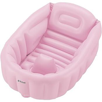 リッチェル Richell ふかふかベビーバスW ピンク 【対象年齢:新生児~3カ月頃まで】