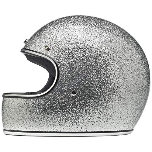 Biltwell Gringo Helmet (Medium/DOT/ECE) (Brite Silver Mega Flake)