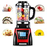 Countertop Blender with Glass Cup High Boron1500 Watts for Puree Ice Crush Shakes and Smoothies