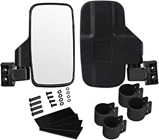 "UTV Side Rear View Mirror with 1.75"" and 2"" Roll Bar Cage,ValChoose Large Adjustable Wide Rear Clear View with Shatter-Proof Tempered Glass, for Polaris RZR, Can-Am, Kawasaki, Kubota, Yamaha, Maverick"