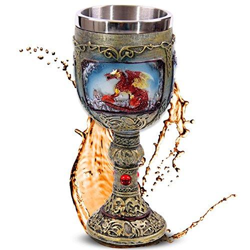 mtb more energy Cáliz Flaming Dragon - Dragón de Fuego - Decoración Medieval fantasía fantástico