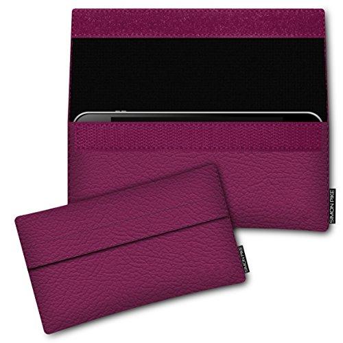 SIMON PIKE Hülle Tasche kompatibel mit Samsung Galaxy S8 Active | Schutztasche Newyork in 01 pink aus Kunstleder Handyhülle