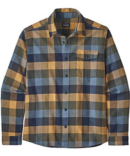 Patagonia M's LW Fjord Flannel T-Shirt für Herren S Gutshof: Bayou blau