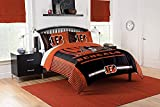 Officially Licensed NFL Cincinnati Bengals 'Safety' Twin Comforter and Sham Set, 64' x 86'