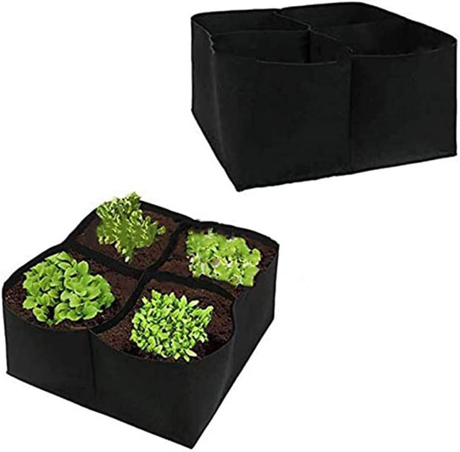 S-TROUBLE 4//8 Grid Portable Square Verdure Growing Box Foldable Planter Access Flap Planting Pouch per Carota Cipolla Forniture per Giardinaggio Domestico