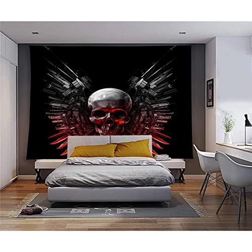 N/A Impresión 3D de tapices Hippie Mandala Tapiz de Calavera Colgante de Pared Psicodélico Bohemio Decoración Tapiz de Tela de Pared Tapiz de Pared de poliéster Alfombra Decoración del hogar