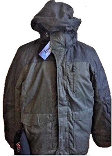ZeroXposur R-Way Men's Hooded Winter Coat/Parka Includes Beanie (Small, Olive Green)