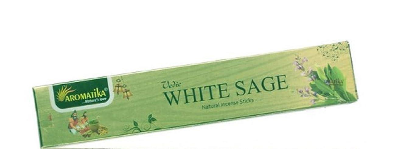 概要値するちょっと待ってaromatikaホワイトセージ15?gms Masala Incense Sticks Pack of 12