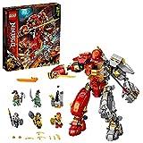 LEGO 71720 NINJAGO Feuer-Stein-Mech Spielzeug, Ninja Actionfigur