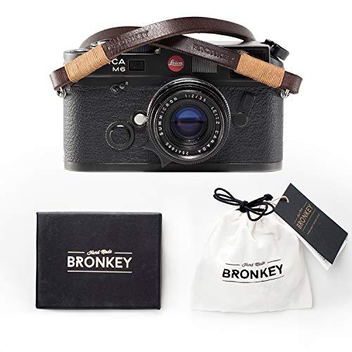 Bronkey Tokyo 105 (95 cm) - Cinghia per macchina fotografica in Vera Pelle, Tracolla, vintage, universale, Etc.