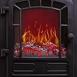 KESSER® Elektrokamin mit Heizlüfter 2000W Elektro Kamin Elektrischer Heizung LED Kaminfeuer Effekt Kaminofen Flammeneffekt Heizer Ofen geräuscharm regelbar Schwarz - 5