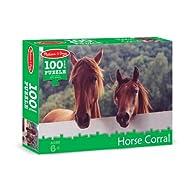Melissa & Doug Horse Corral Cardboard Jigsaw Puzzle, 100-Piece