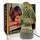 JINYI LED Luz nocturna Anime Naruto, lámpara de escritorio para niños 3D, decoración del hogar, G- Control de Telefonía Móvil, Lámpara de mesa, Alta calidad