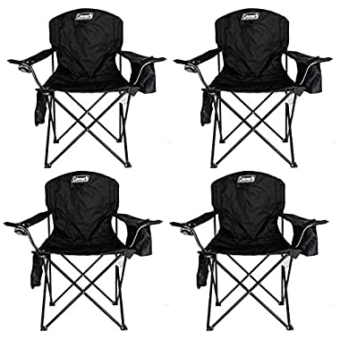 4-Pack Coleman Cooler Quad Chairs With Built-In Cooler, Black | 4 x 2000020267