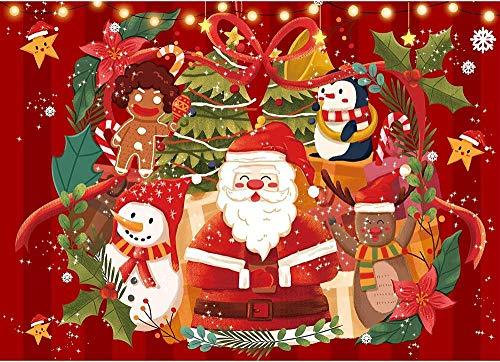 HAHJ Rompecabezas Puzzles Rompecabezas móvil para Adultos, Piezas de Rompecabezas, Rompecabezas de Papá Noel, Juguetes de Rompecabezas Familiares para niños Adultos, 1500 Piezas