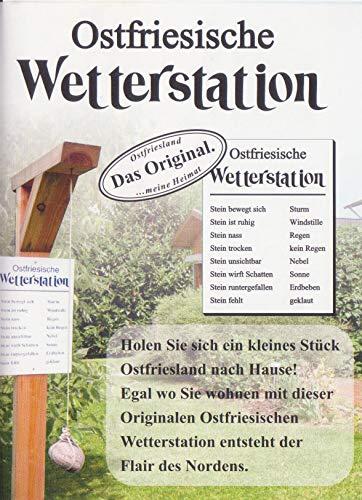 Ostfriesische Wetterstation Wettergalgen Wetterstein Wetterbarometer