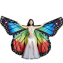 MUNAFIE Colorful Dance Colorful Butterfly Wings Performance Costumes