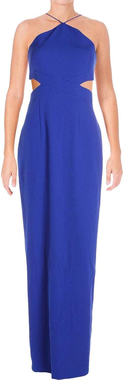 Aidan Mattox Aidan Womens Halter Neckline Formal Evening Dress