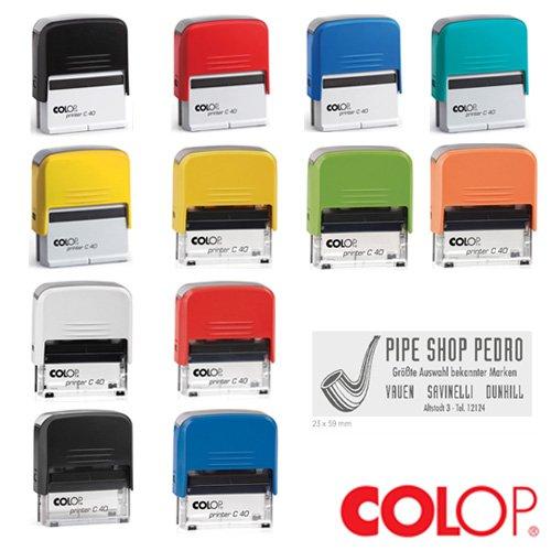 Colop Printer Compact Stempel 40 mit individueller Textplatte/Logo
