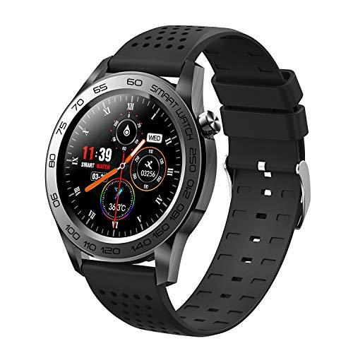 スマートウォッチ 2021最新 smart watch 1.54インチ 消費カロリー計 24時間測定 画面明るさ調整 天気予報 電話 メール SNS Line通知 IP67防水 目覚まし時計 座りがち注意 父の日ギフト 日本語 ios&Android対応