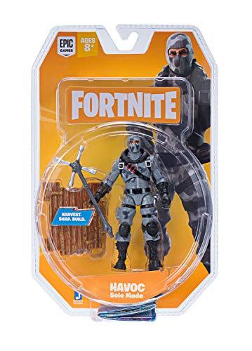 Fortnite FNT0096 - Mode Solo Modus Figur Havoc, Action Figur ca. 10 cm groß, mit Waffe und Ständer