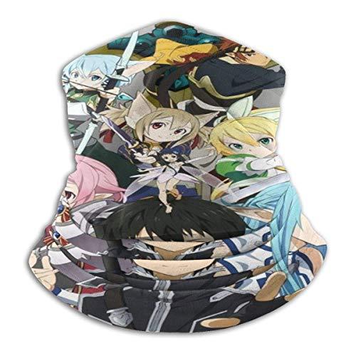 185 Multifunctional Headwear,Diadema Sword Art Online, Pasamontañas De Cuello De Secado Rápido para Escalada Y Senderismo,26x30cm
