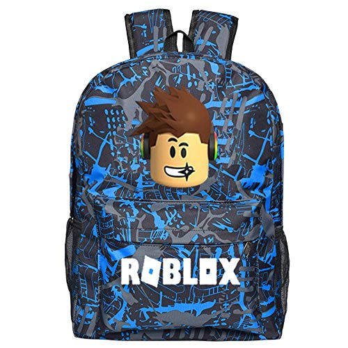 NINIUBAL Roblox Schüler Rucksack für Kinder und Jugendliche Rucksäcke Karikatur Schulrucksack Reisen Sport Outdoor Schultaschen für Jungen und Mädchen