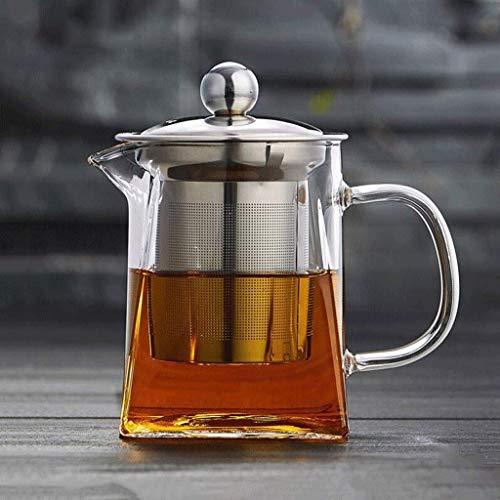 Hervidor Tetera Tetera de Vidrio Filtro de Tetera de Burbujas Tetera de té de Vidrio Espesado de Alta Temperatura Hogar 350ml? Ml? Ml Taza de té (Tamaño: 600ml) Exquisito