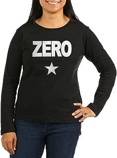Zero - Women's Long Sleeve T-Shirt, Classic 100% Cotton Crew Neck Shirt