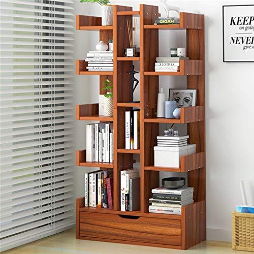 KKCD - Boekenkasten - Houten Boekenkast Display Kast Boom Opslag Plank Met Open Kubussen Planken Voor Woonkamer Of Kantoor In Een Modern Ontwerp