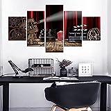 Painting 5 Piezas Cuadro sobre Lienzo Luz De Claqueta De Cine Multimedia Impresión Pinturas Murales Decor Dibujo con Marco Fotografía para Oficina Aniversario