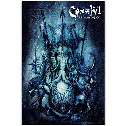 Cypress Hill Elephants On Acid Album Art Posters and Prints Painting Living room bedroom decoration painting -60x90cm No Frame