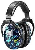 [Verbesserte] ZOHAN 030 Kinder Gehörschutz, Verstellbare Bequeme Kinder Lärmschutz Kopfhörer für Schule mit SNR 27dB Hörschutz mit Tragbare Tasche, Kinder von 6 Monate bis 18 Jahren, Graffito MEHRWEG