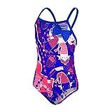 Speedo Shell Bell Bow, Costume da Bagno Unisex Bambini, Blu (Amparo Blue/Post It Pink), 6-9 Mesi