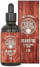 Beard Oil Conditioner - All Natural Sandalwood Scent with Argan & Jojoba Oils - Softens & Strengthens Beards and Mustaches for Men (Sandalwood, 1 Pack)