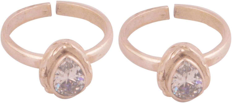 Silverwala 925 Sterling Silver 特別セール品 Cubic Rings Zirconia 全品送料無料 Toe