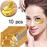 Gold Face Mask Yiitay Anti-Aging Face Care Sleeping Eye Patches Eliminates Dark Eye Masks (10Pcs)