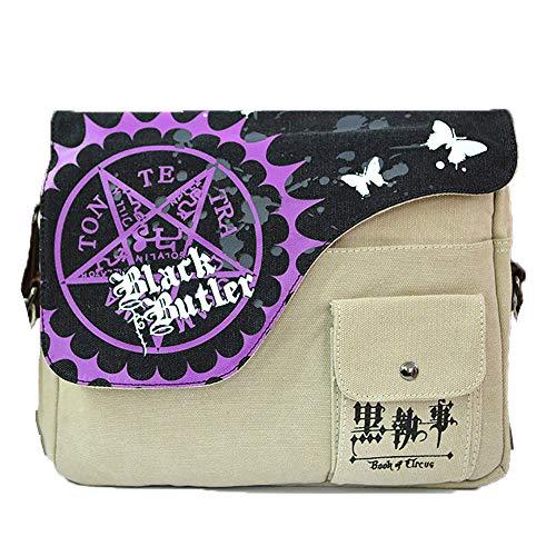 Anime Theme Shoulder bags Black Butler Cross body Handbags Messenger bags ipad book bags(Black Butler)