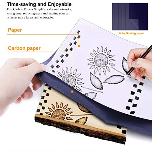 50pcs Professional Level Wood Burning Kit -Set with ON/Off Switch and Adjustable Temperature Pyrography Pen Include Various Wood Embossing/Carving/Soldering Tips