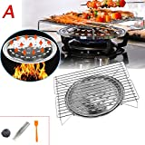 NAA Table Top Portable Gas Barbeque Barbecue BBQ Cooker Stove Grill Picnic Beach for Outdoor Hiking Picnic BBQ (A)